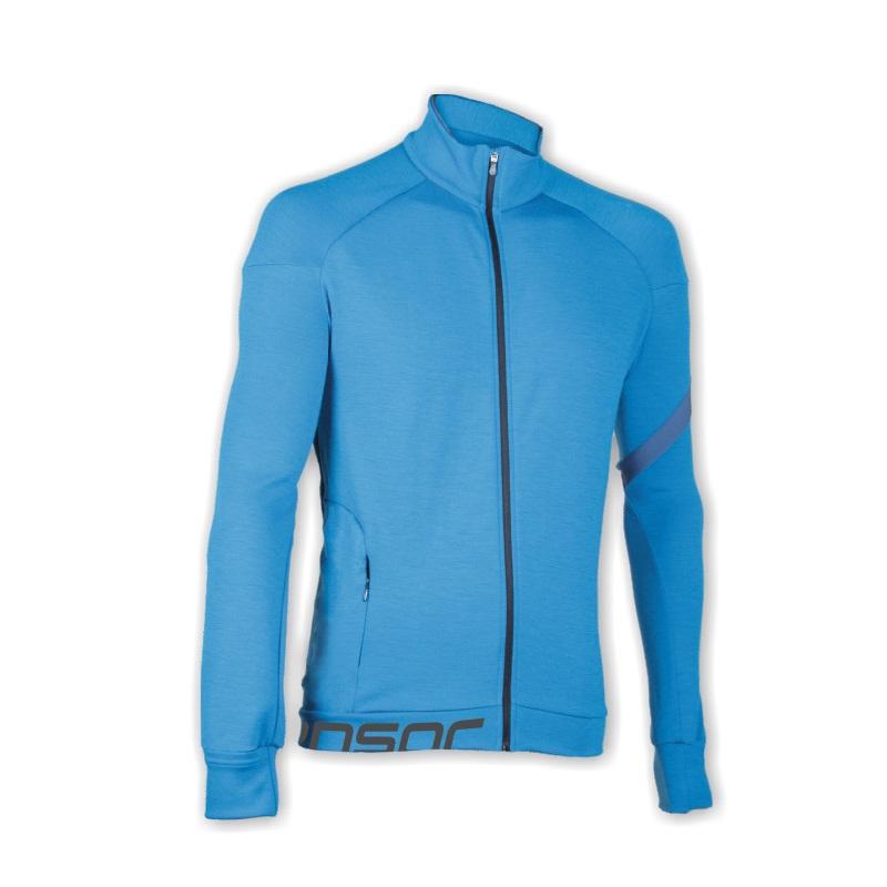 Mikina SENSOR Merino Wool Multistretch pán. XL modrá