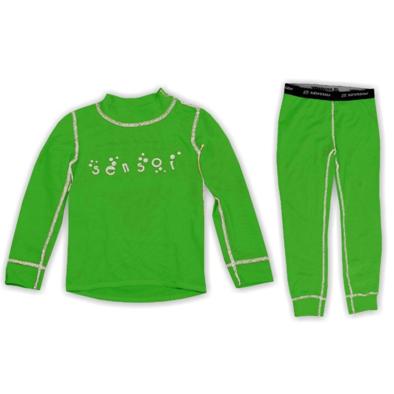 Komplet SENSOR Double Face dětský zelený - vel. 150