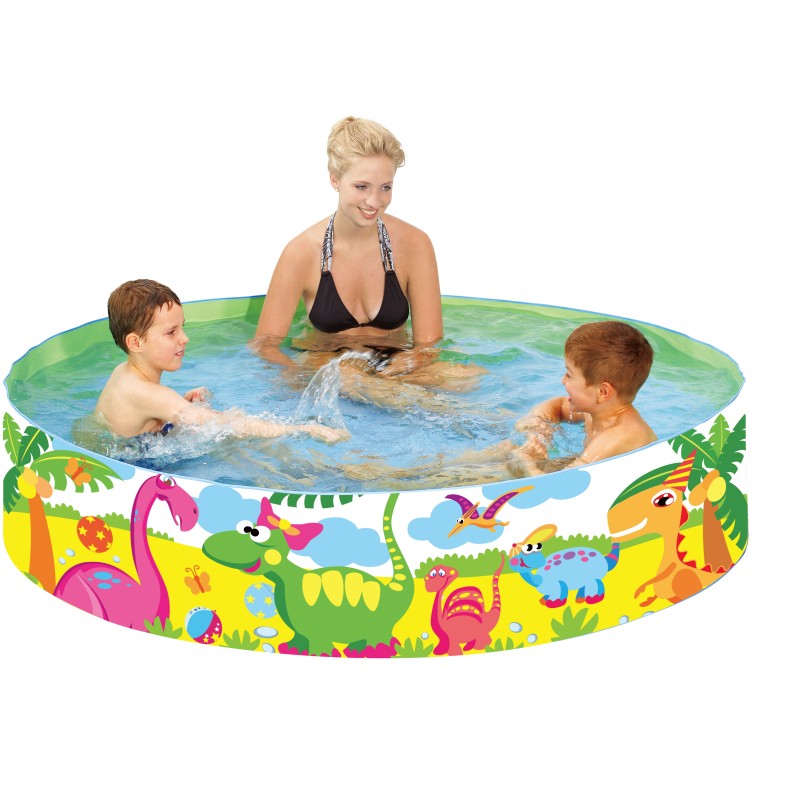 Bazén s pevnou stěnou Dinosaurus 240 x 38 cm