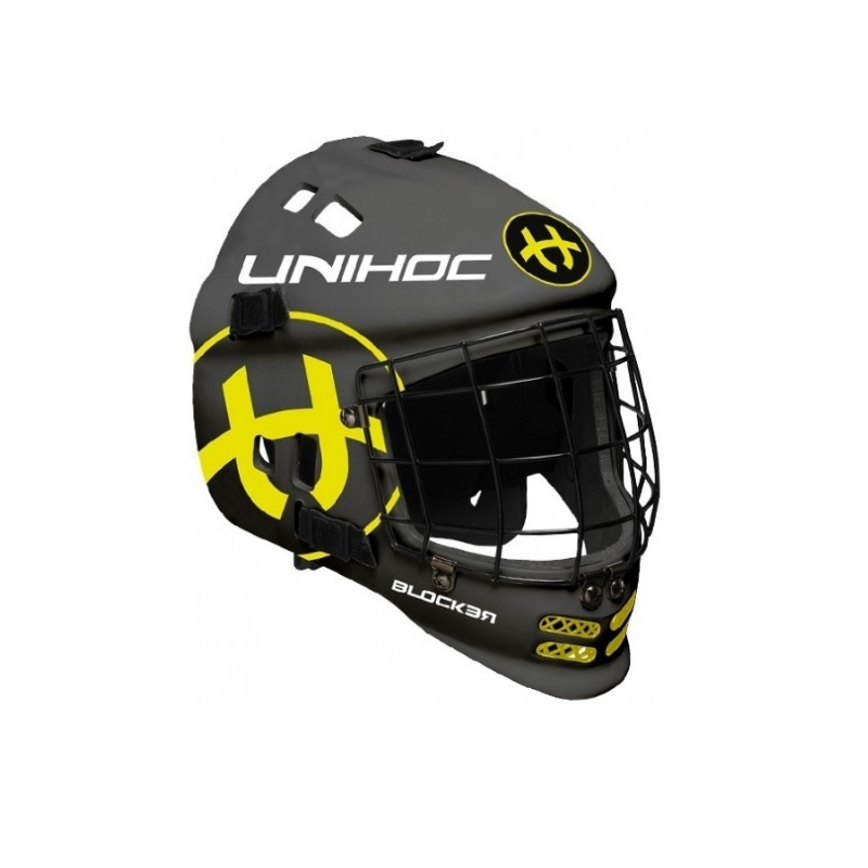 Florbalová maska UNIHOC Blocker - černá