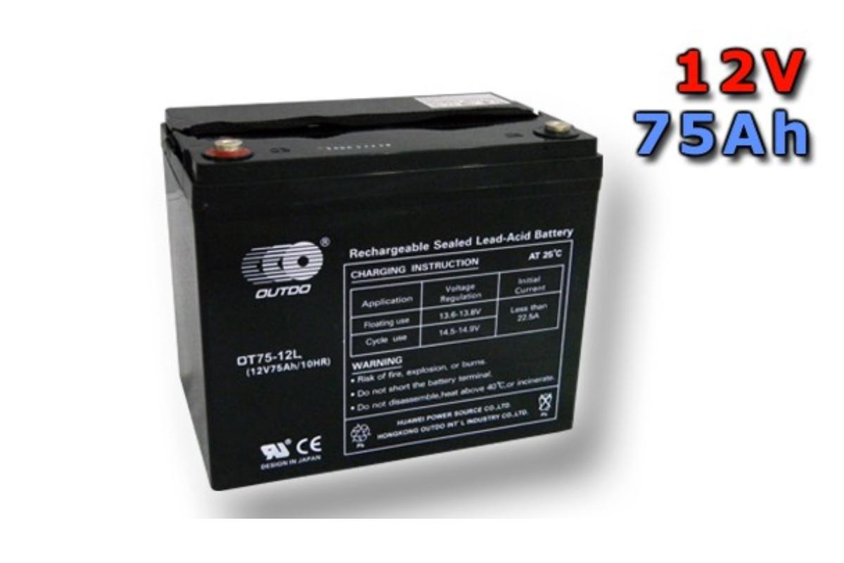 Trakční gelová baterie GOOWEI OTL75-12 75Ah