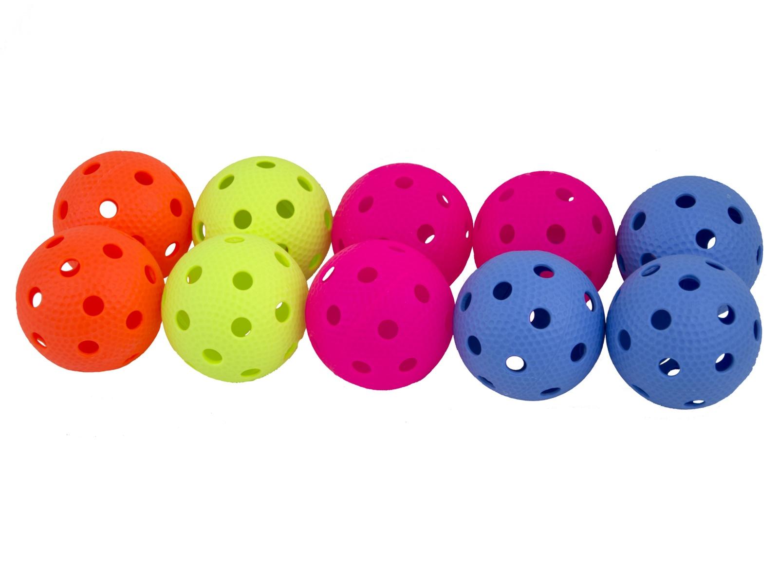 Florbalový míček SALMING Aero Ball 10 ks, barevný mix