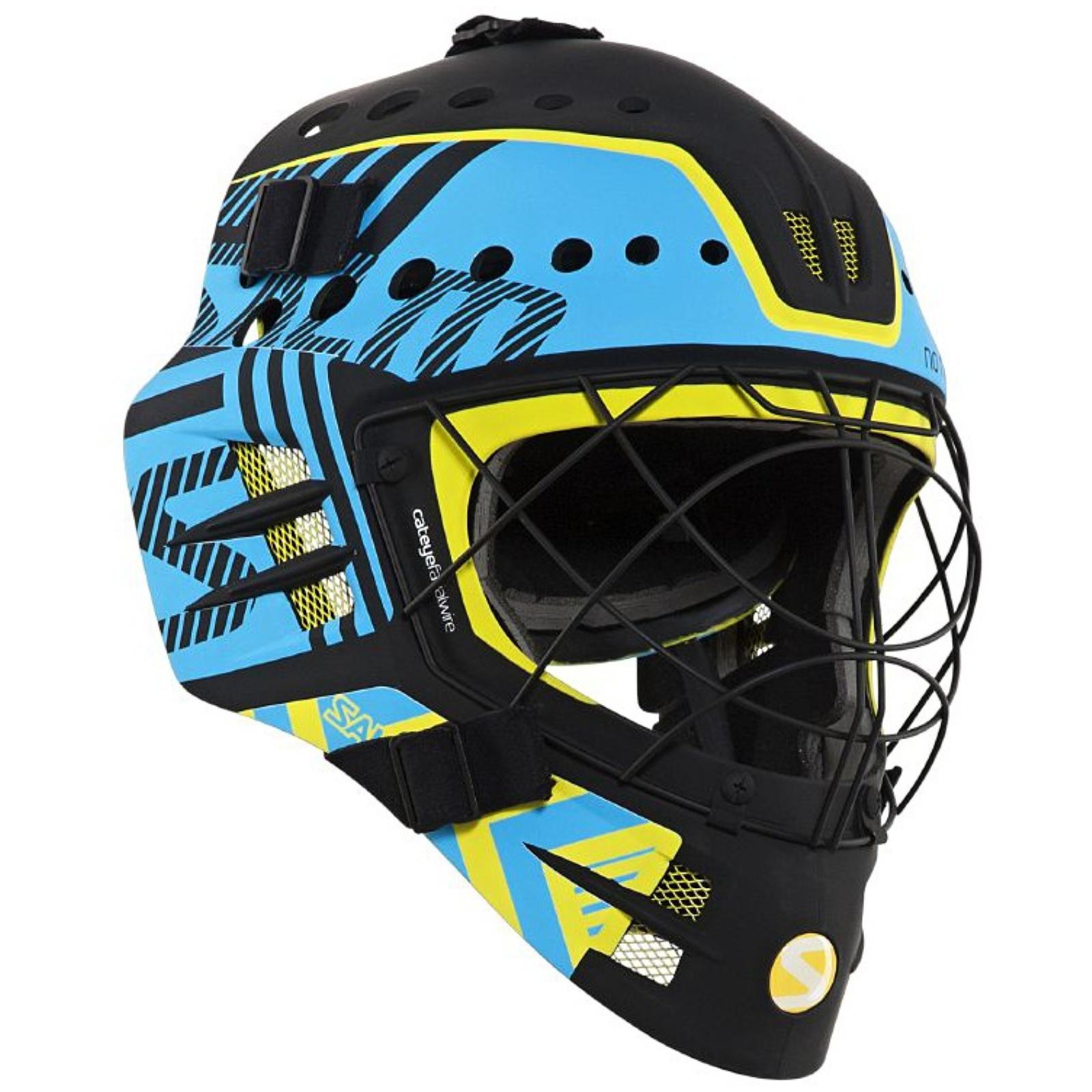 Florbalová maska SALMING Travis Elite Helmet černo-modrá