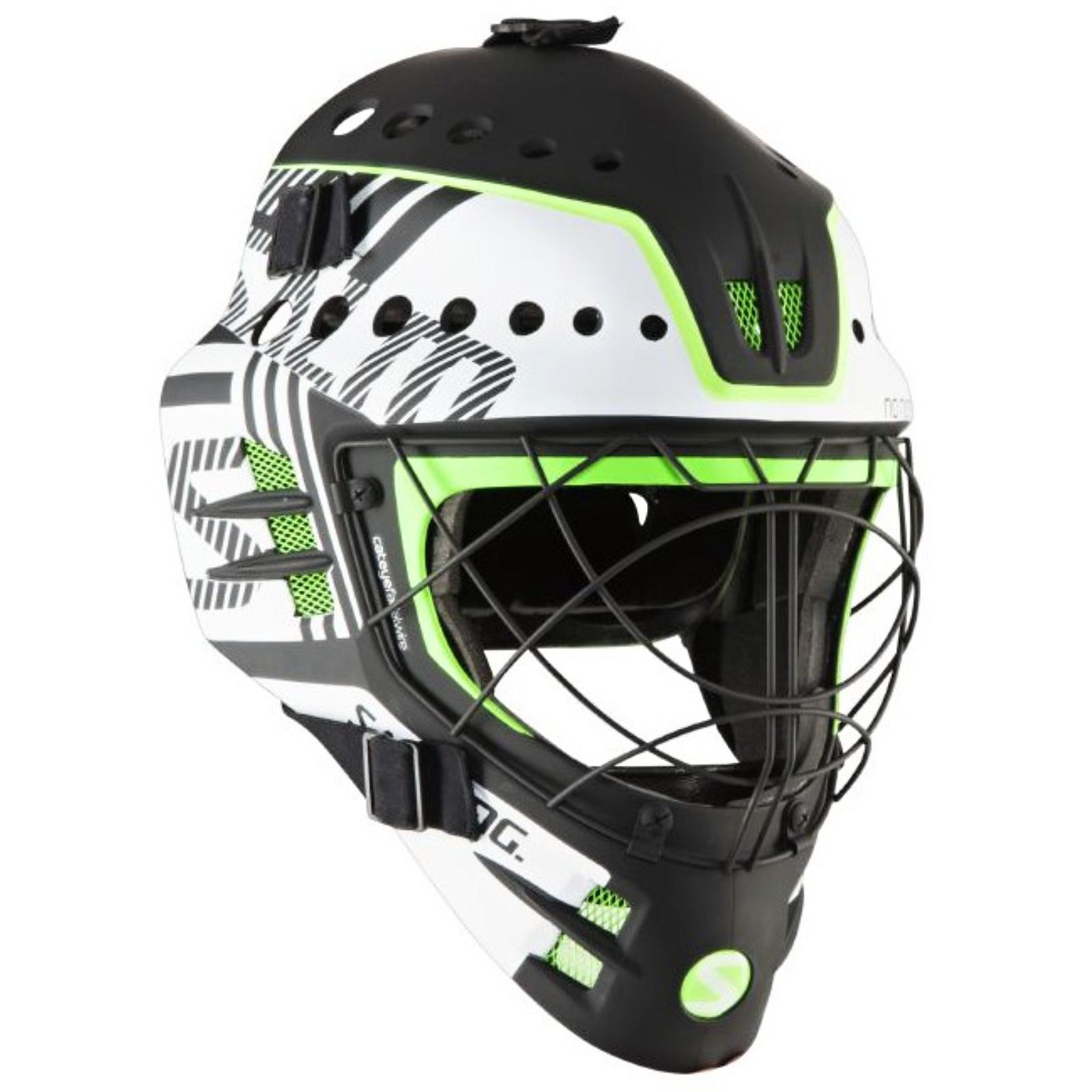 Florbalová maska SALMING Travis Elite Helmet bílo-zelená