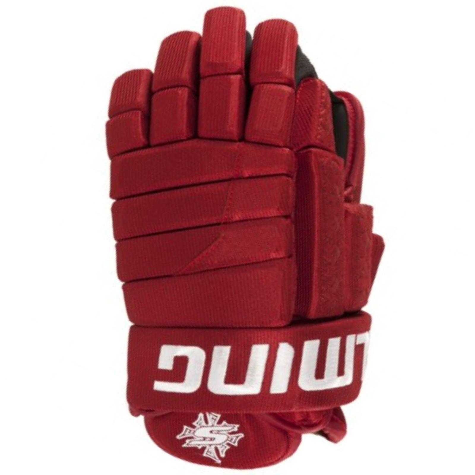 """Hokejové rukavice SALMING Glove M11 - červené vel. 11"""""""