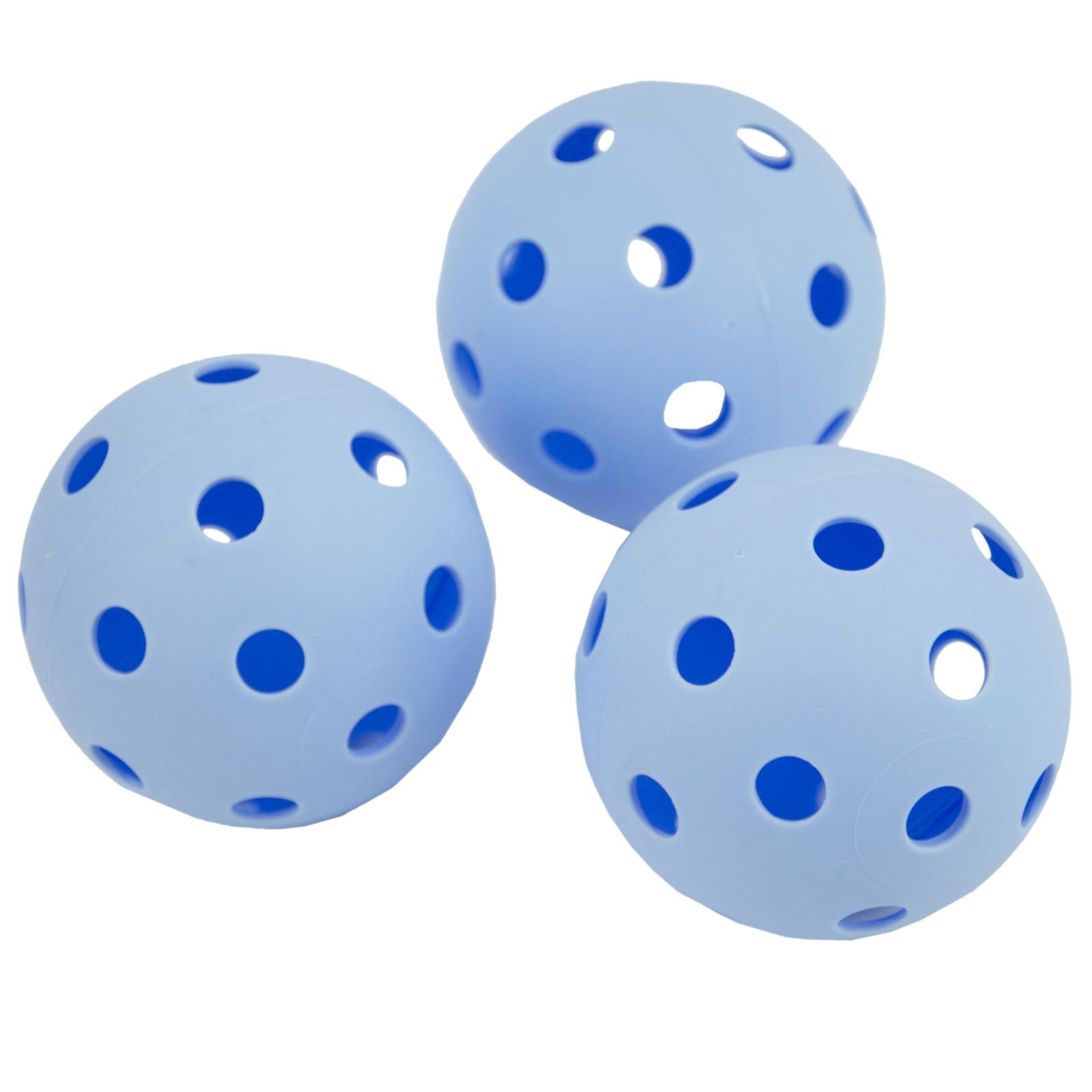 Florbalové míčky SPOKEY Turn - 3ks, modré