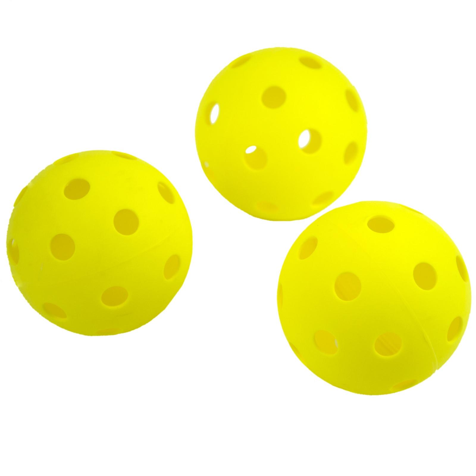 Florbalové míčky SPOKEY Turn - 3ks, žluté