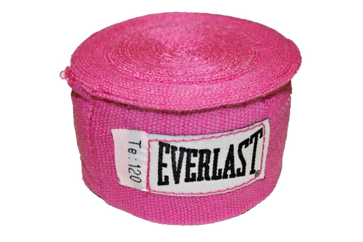 Bandáže EVERLAST 3 m růžové - poloelastické