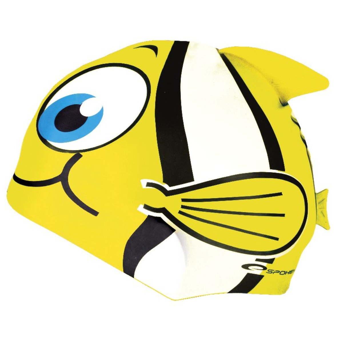 Plavecká čepice SPOKEY Rybka - žlutá