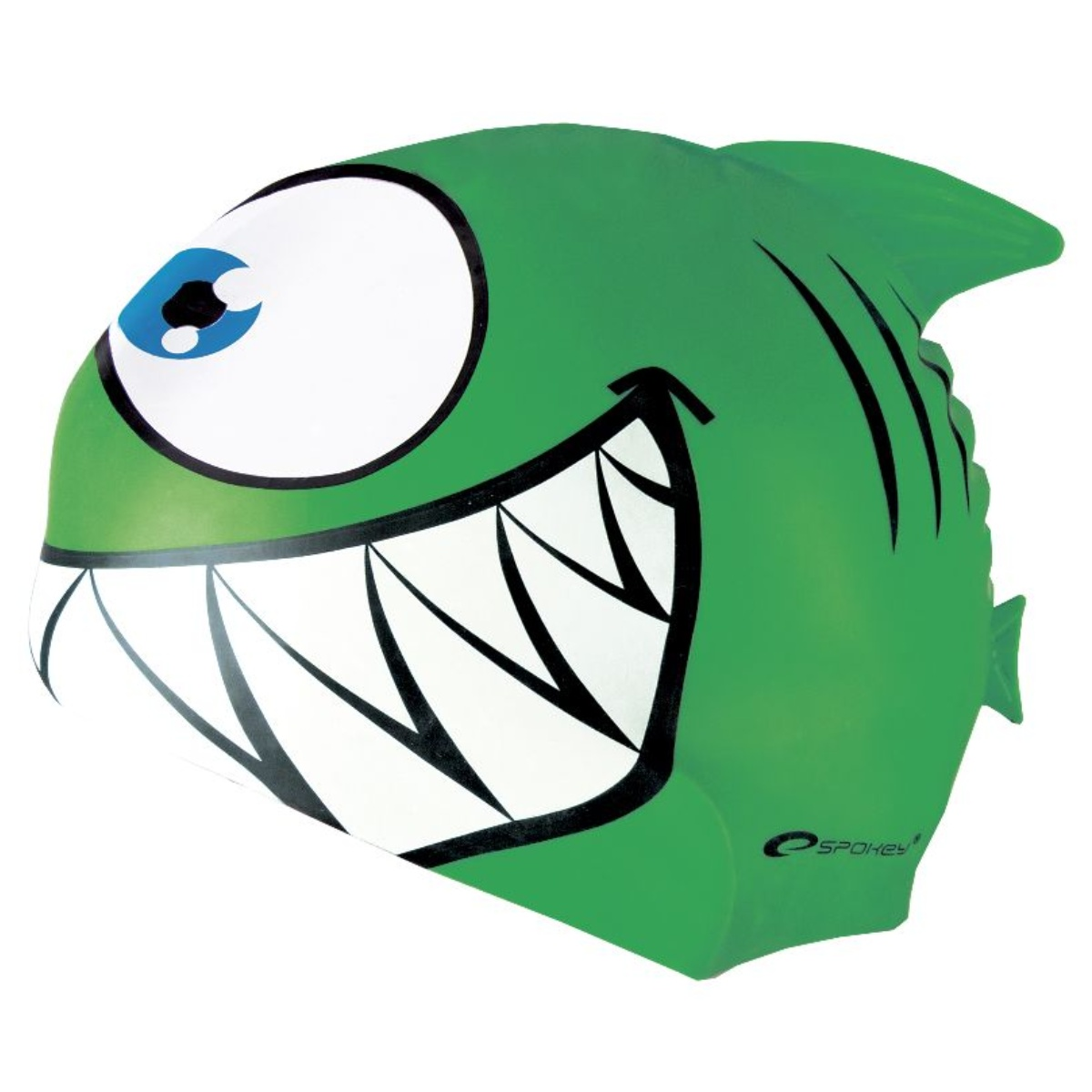 Plavecká čepice SPOKEY Rekinek - zelená