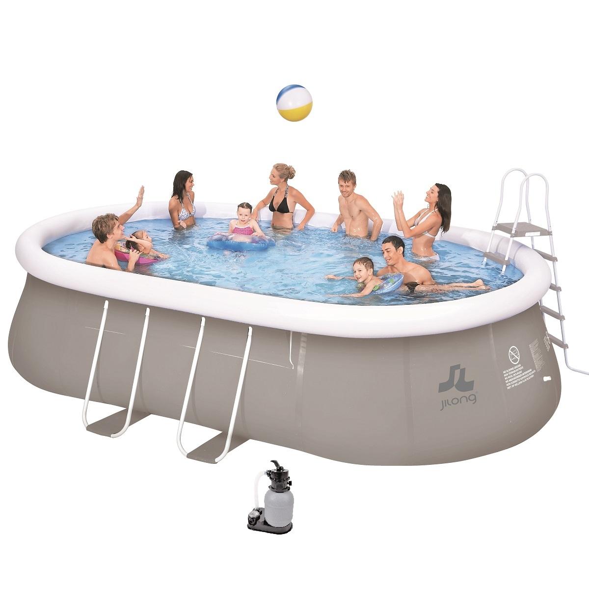Bazén ovál Prompt Pool 540 x 304 cm set s pískovou filtrací