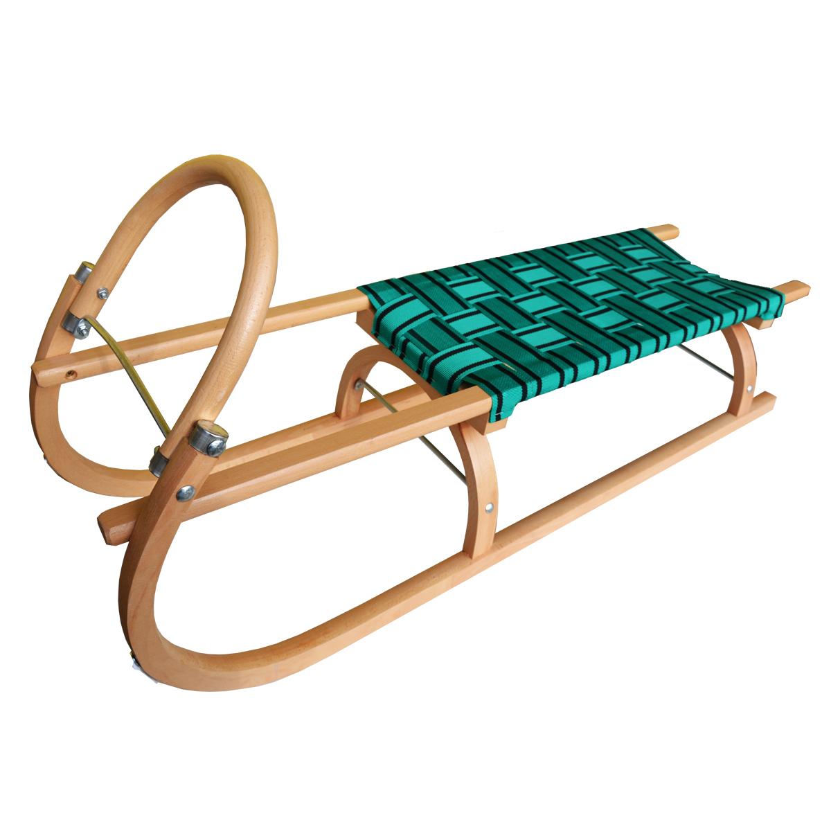 Sáně dřevěné SULOV délka 110 cm - zelené