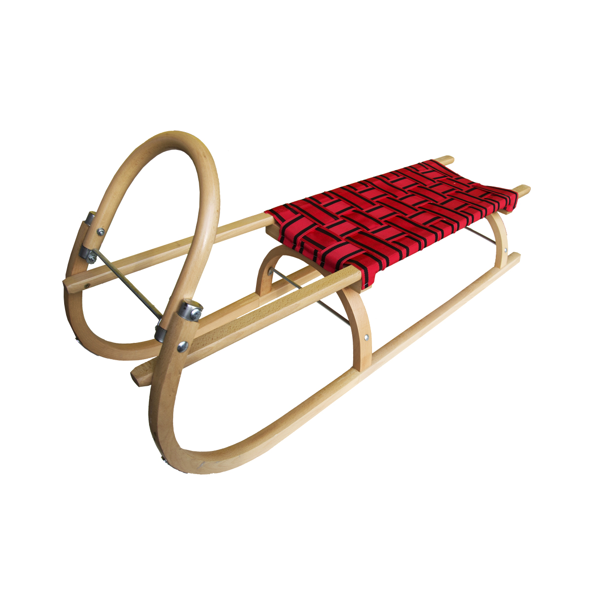 Sáně dřevěné SULOV délka 110 cm - červené