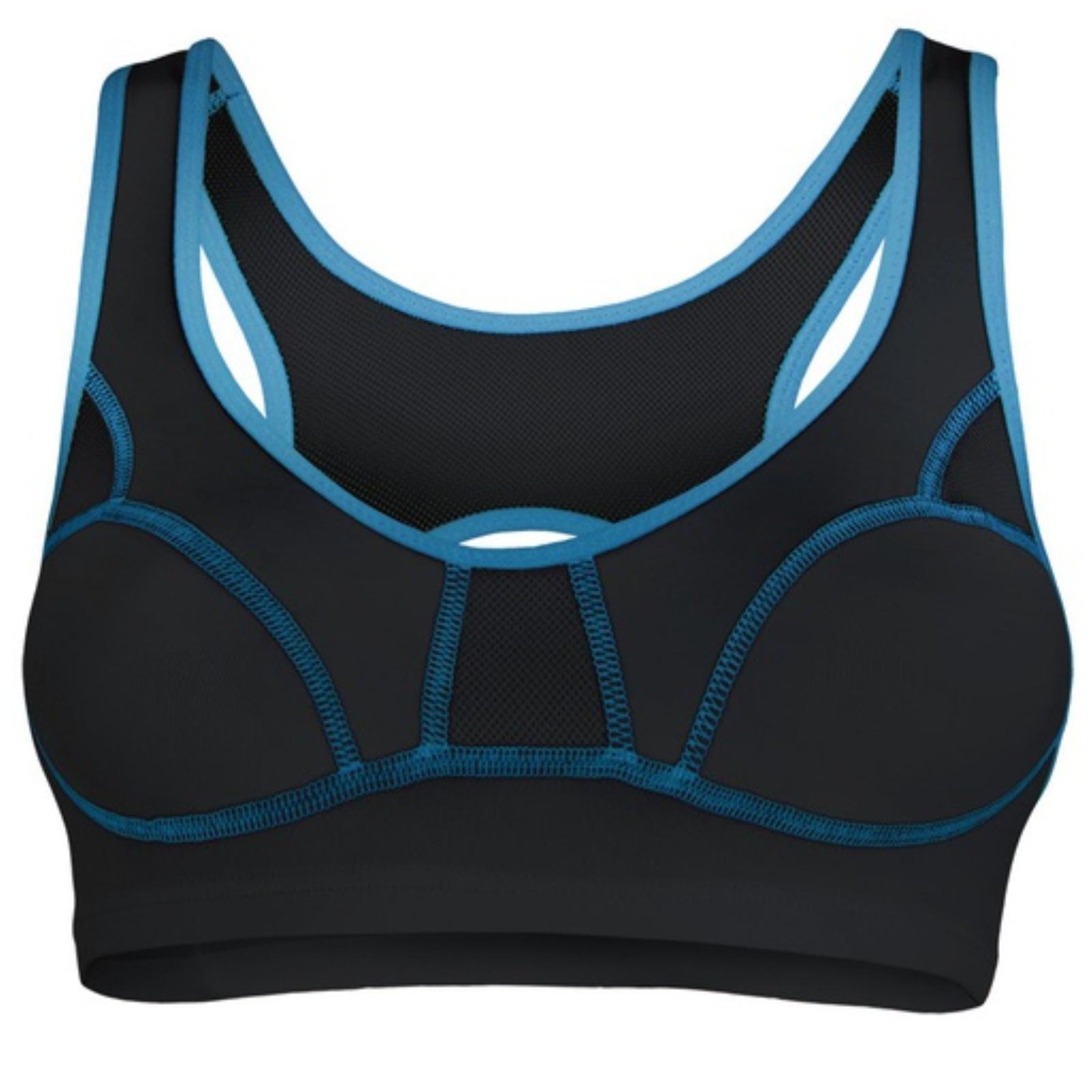 Sportovní podprsenka SENSOR Lissa černo-modrá vel. 85C
