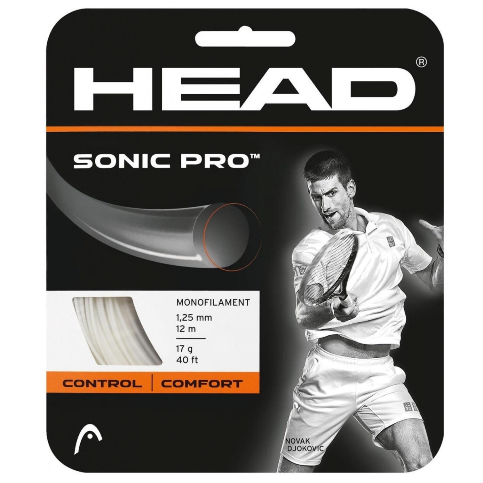 Tenisový výplet HEAD Sonic Pro 17g 1.25 mm bílý
