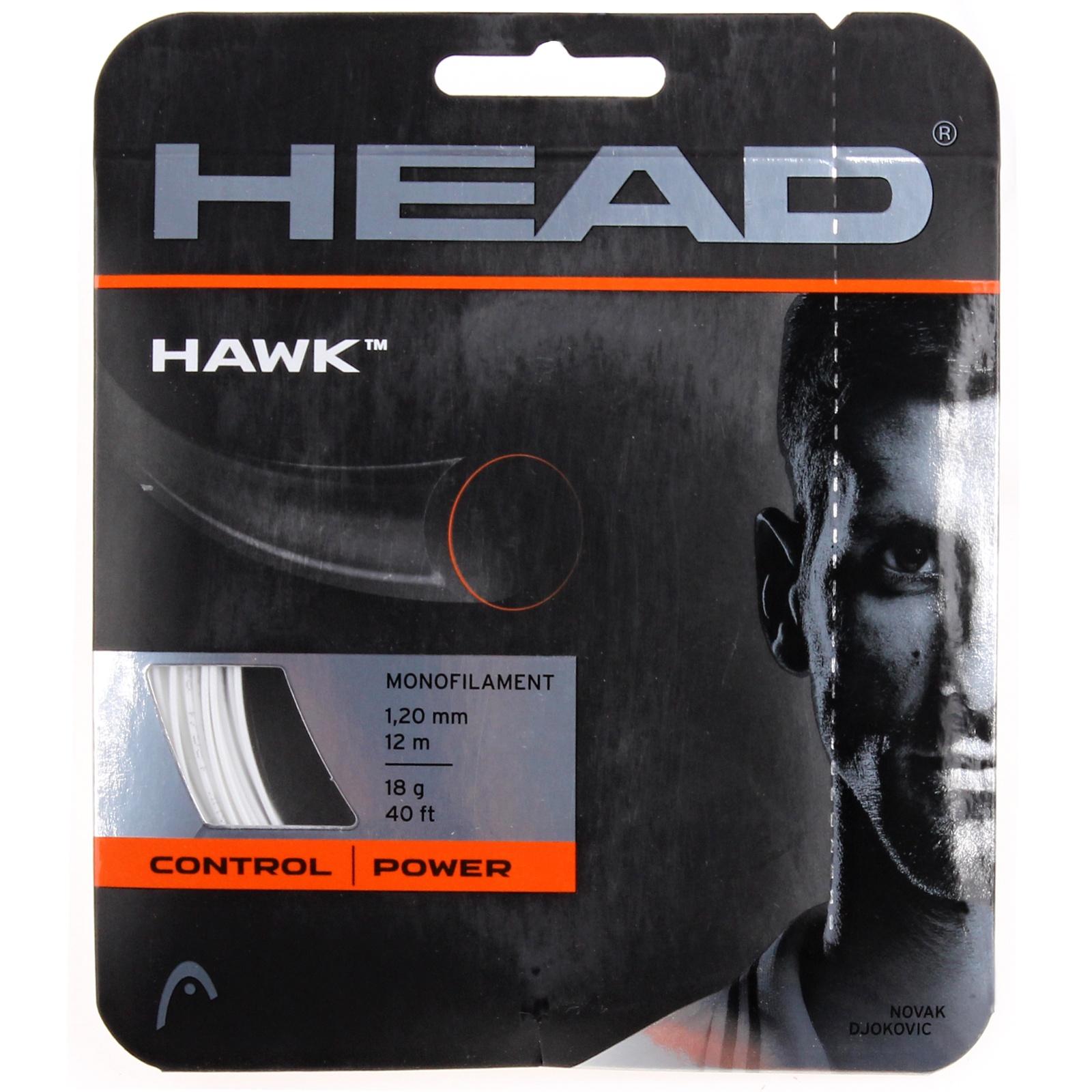 Tenisový výplet HEAD Hawk 12 m, 1.25 mm bílý