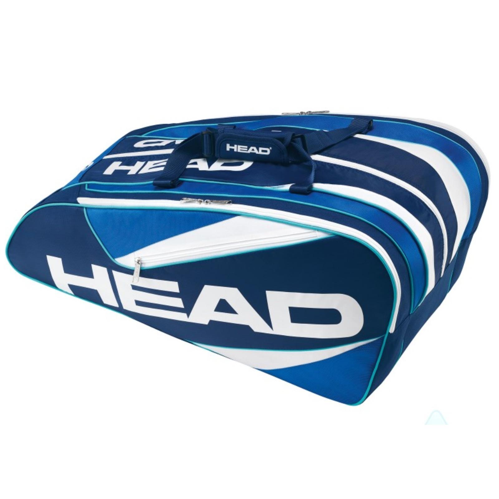 Tenisová taška HEAD Elite 12R Monstercombi modrá