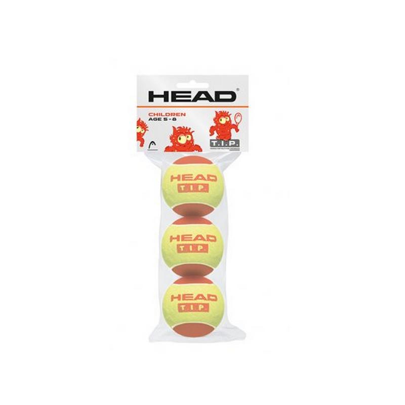 Dětské tenisové míče HEAD T.I.P. 3ks - červené