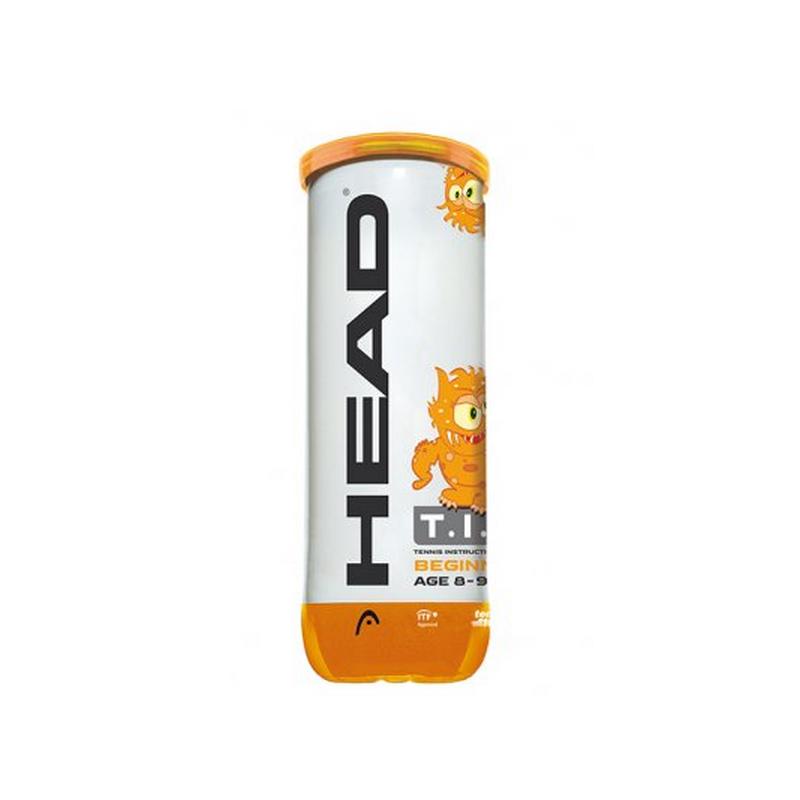 Dětské tenisové míče HEAD T.I.P. 3 ks - oranžové