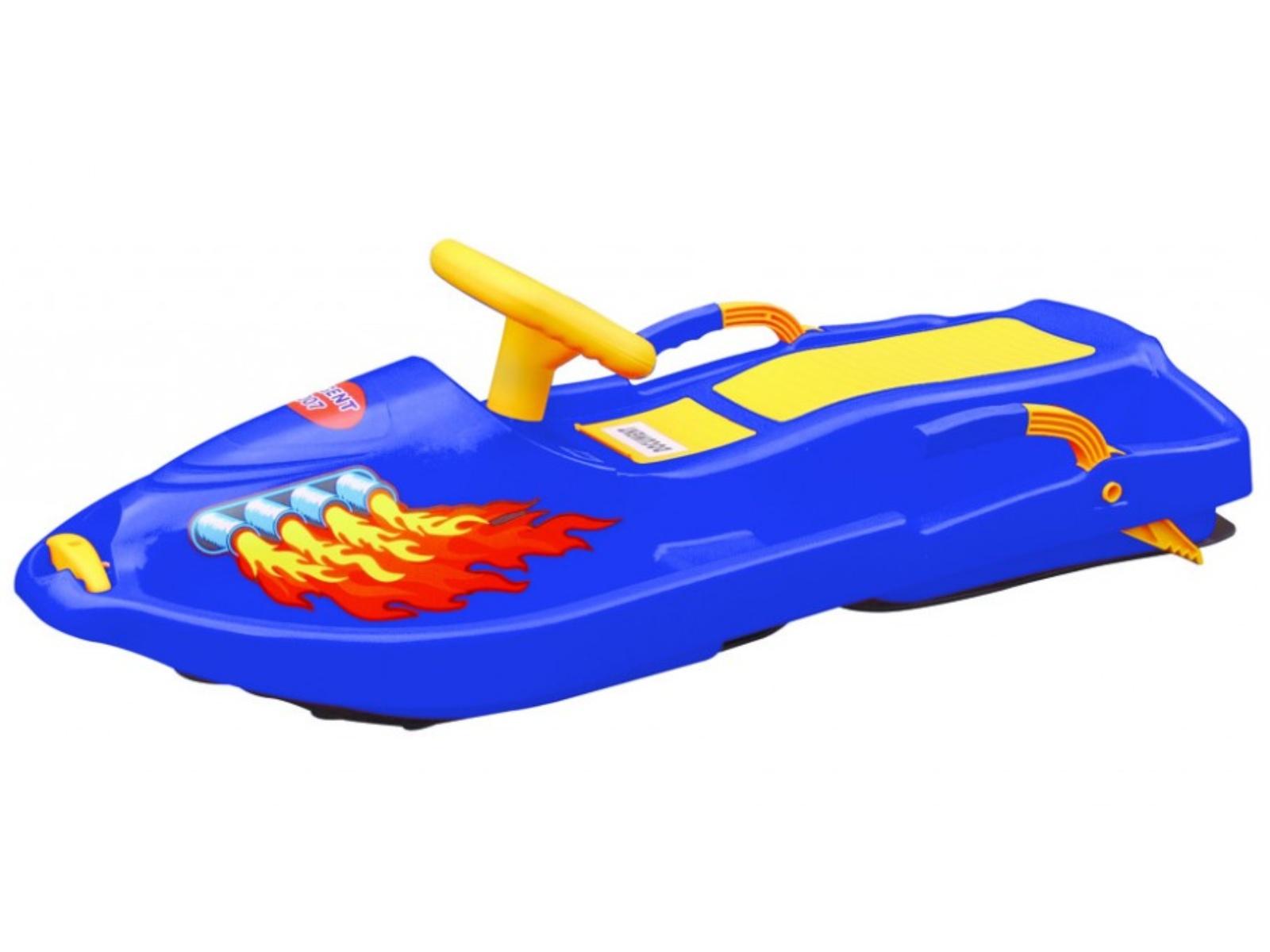 Boby Snow boat dětské řiditelné - modré
