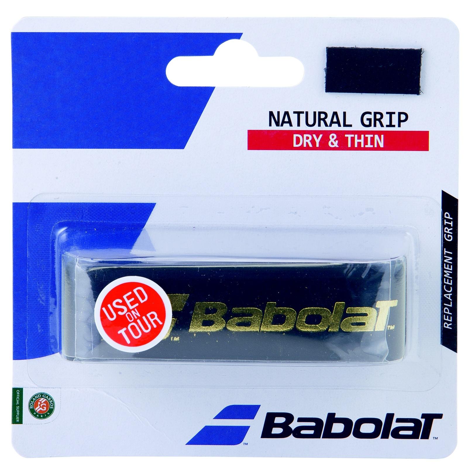 Tenisová omotávka BABOLAT Natural Grip - černá