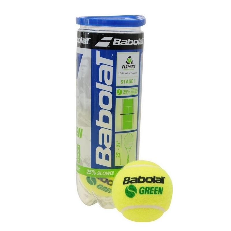Dětské tenisové míčky BABOLAT Green 3 ks