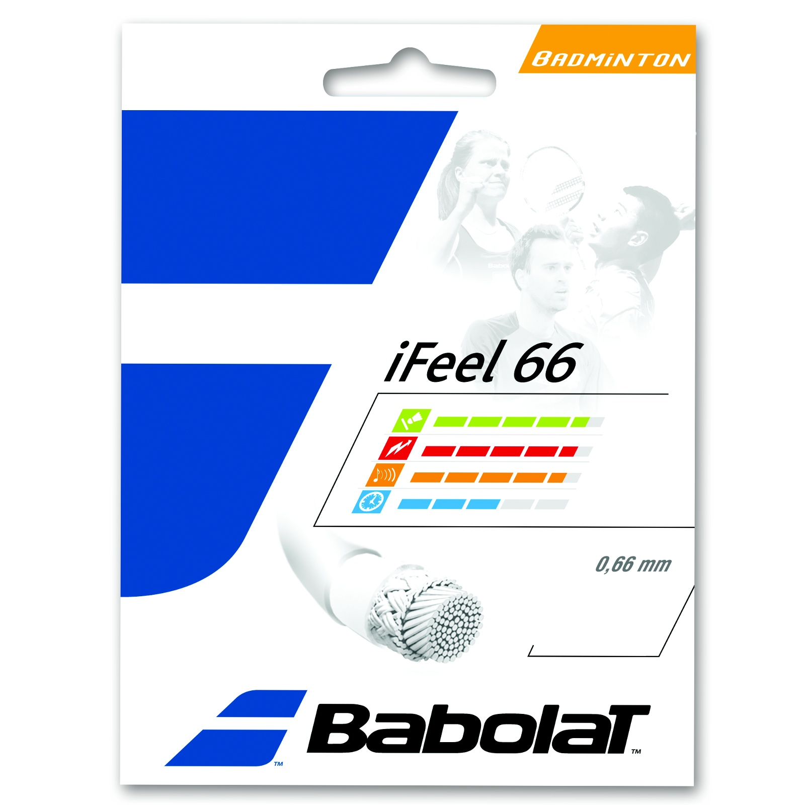 Badmintonový výplet BABOLAT iFeel 66 žlutý