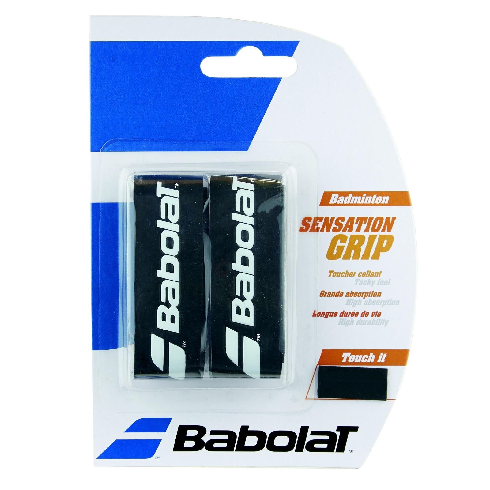 Badmintonový grip BABOLAT Sensation Grip X2 černý