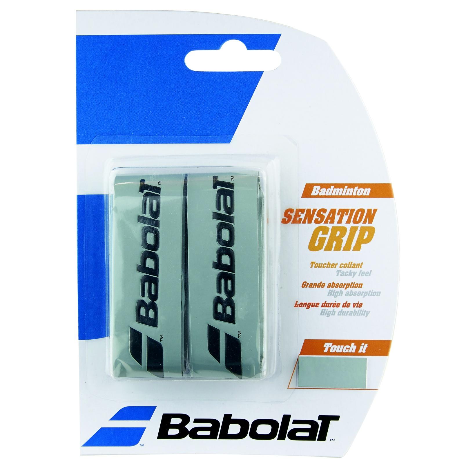 Badmintonový grip BABOLAT Sensation Grip X2 šedý