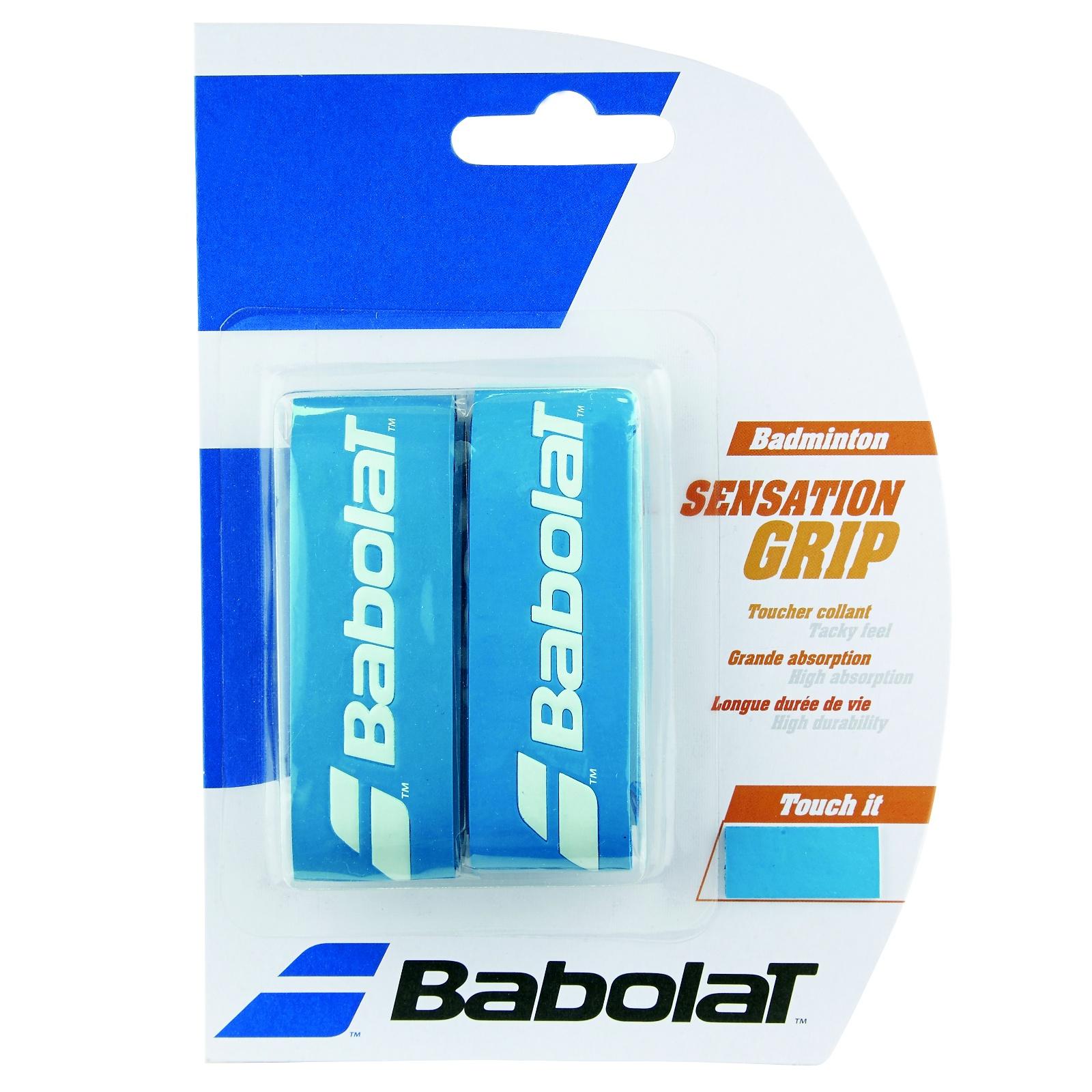 Badmintonový grip BABOLAT Sensation Grip X2 modrý