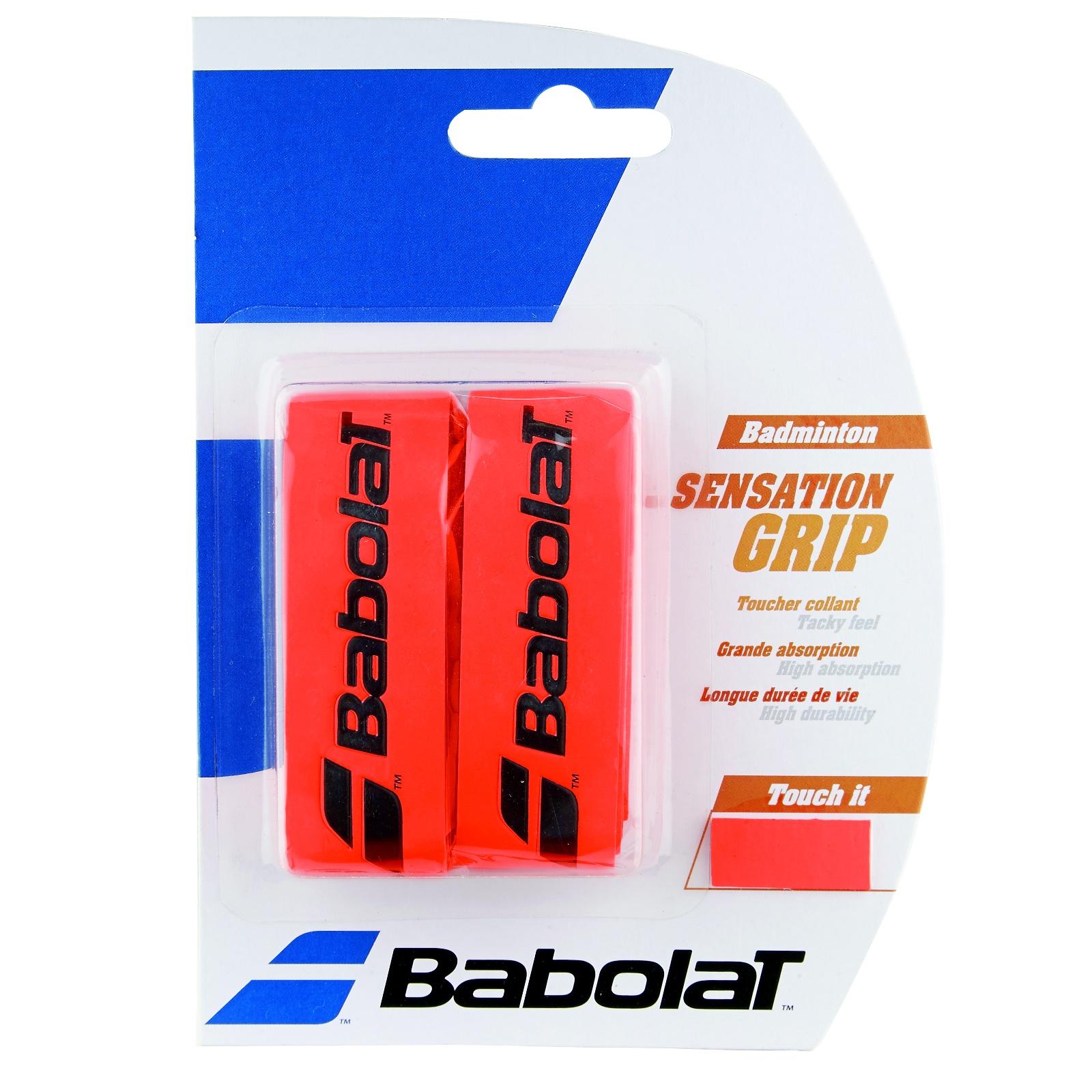 Badmintonový grip BABOLAT Sensation Grip X2 oranžový