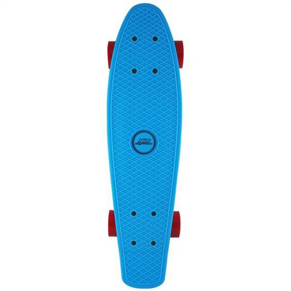 Skateboard NILS Extreme Plastik Board Fishboard - modrý