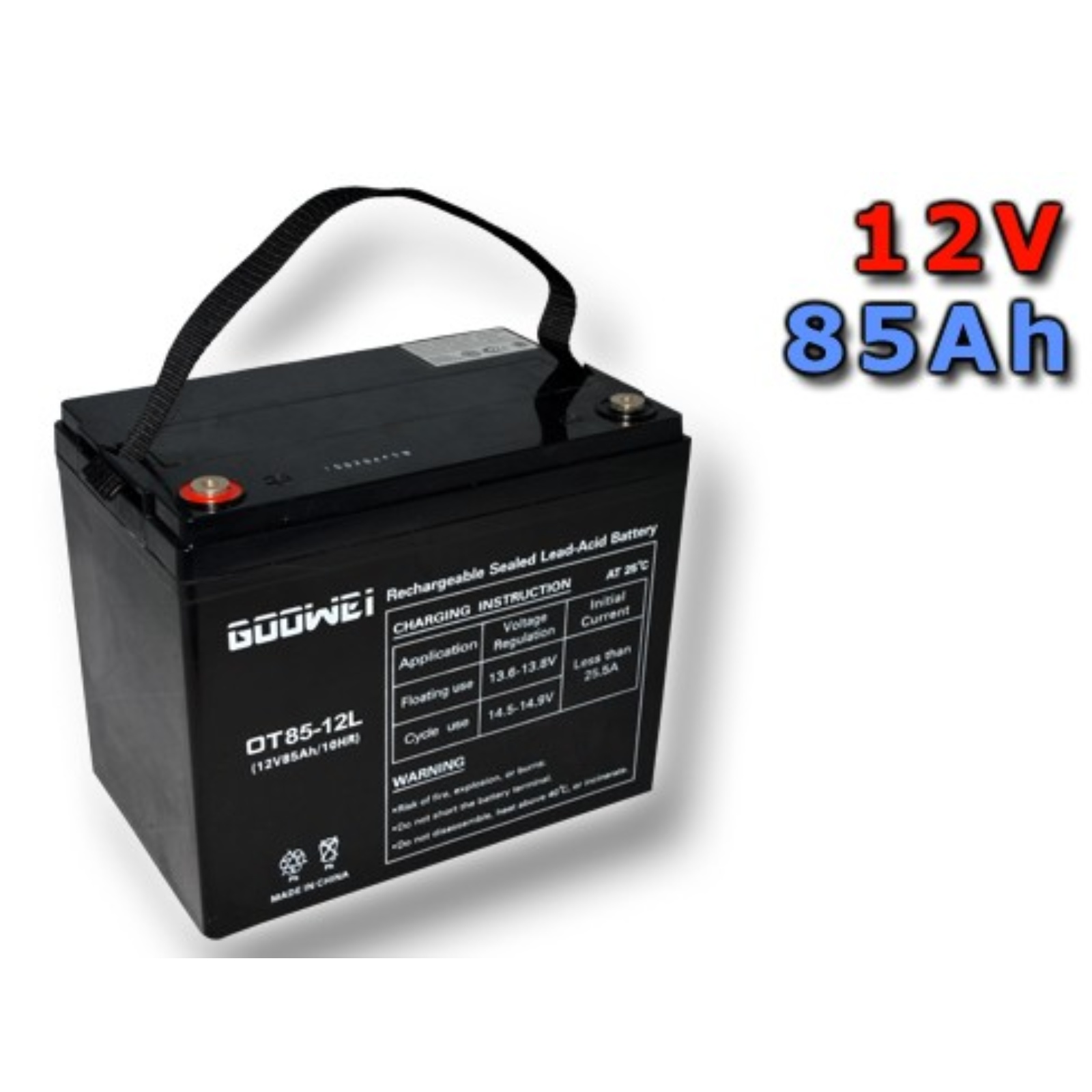 Trakční gelová baterie GOOWEI OTL85-12 85Ah