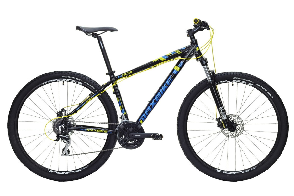 """Horské kolo MAXBIKE Apo 29 2016 velikost rámu 21"""" - žluté"""