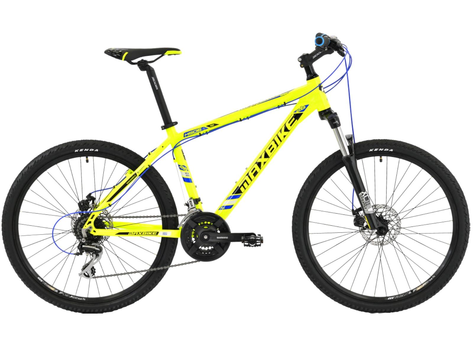 """Horské kolo MAXBIKE Apo 26 žluté - vel. rámu 15"""""""