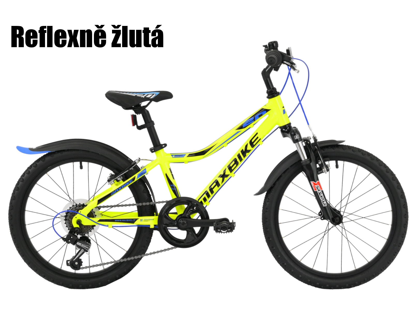 """Dětské kolo MAXBIKE Junior 20"""" SF - reflexně žluté"""