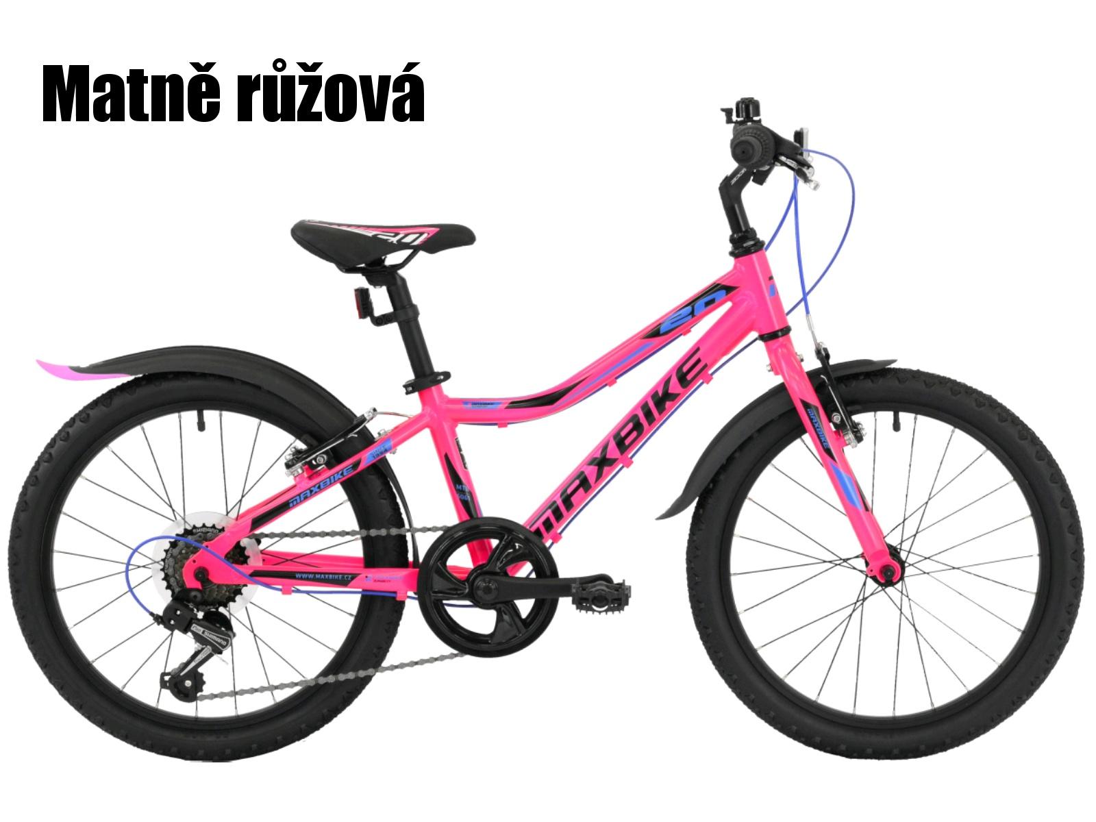 """Dětské kolo MAXBIKE Junior 20"""" - matně růžová"""