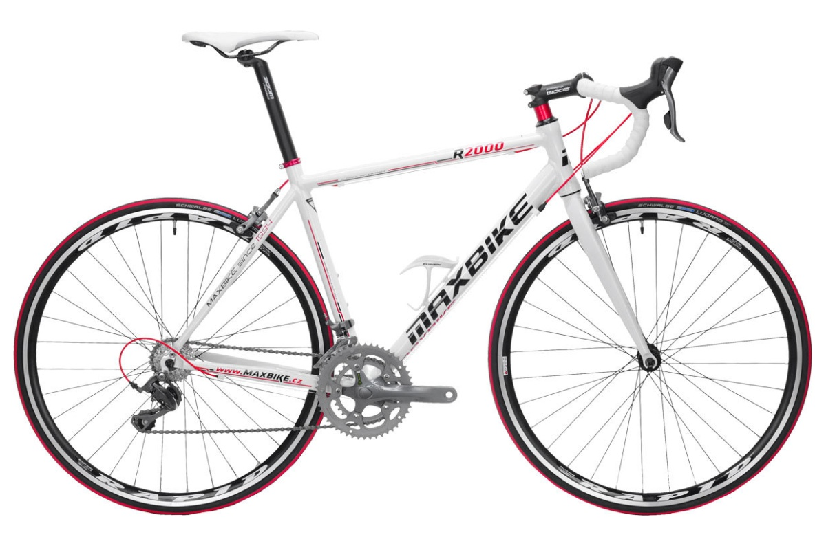 Silniční kolo MAXBIKE Cenis 2016 velikost rámu 46cm - bílé