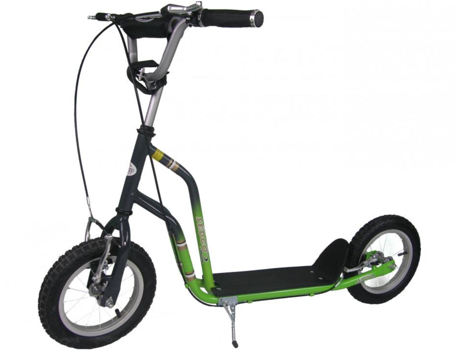 Koloběžka SEDCO Sport BMX New 12-12 - šedo-zelená