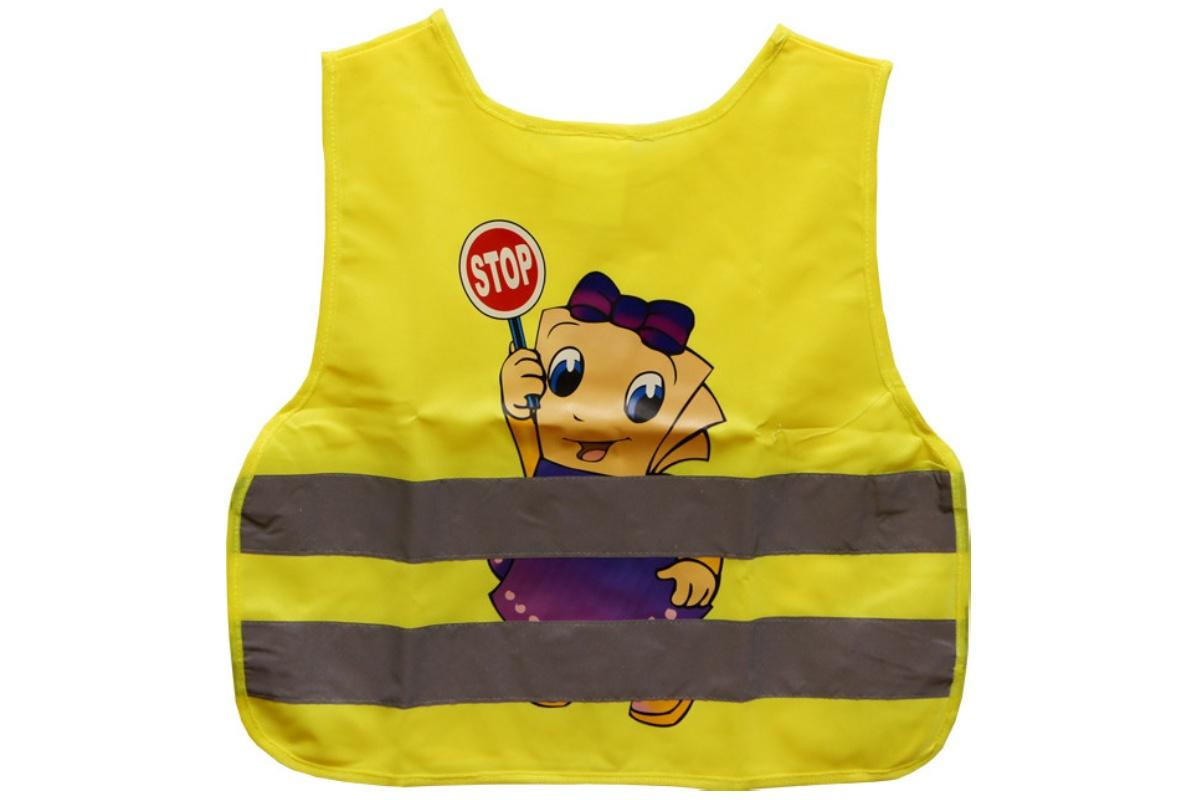 Bezpečnostní reflexní vesta dětská - žlutá