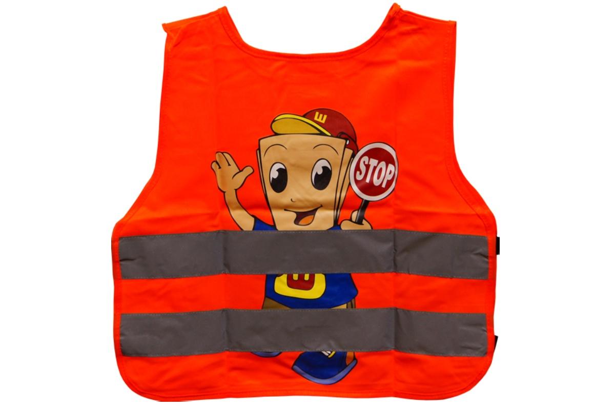 Bezpečnostní reflexní vesta dětská - oranžová