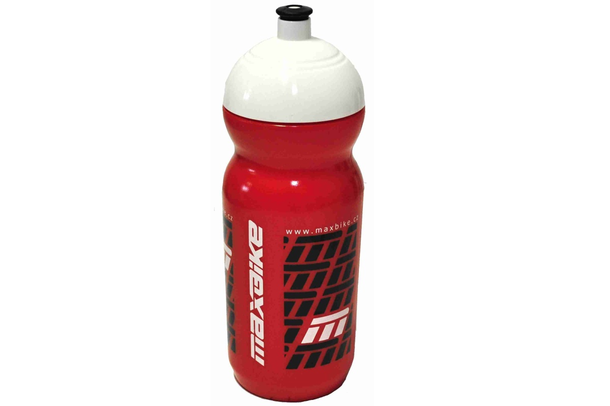 Cyklo láhev MAXBIKE 0,6 l se závitem - červená