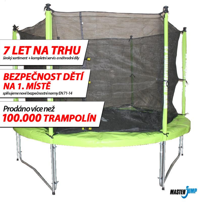 SET trampolína MASTERJUMP 244 cm + ochranná síť vnitřní
