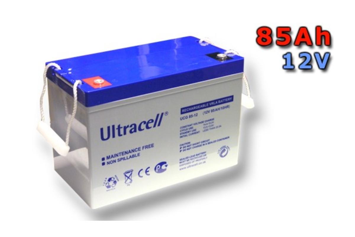 Trakční gelová baterie ULTRACELL UCG85-12 85Ah