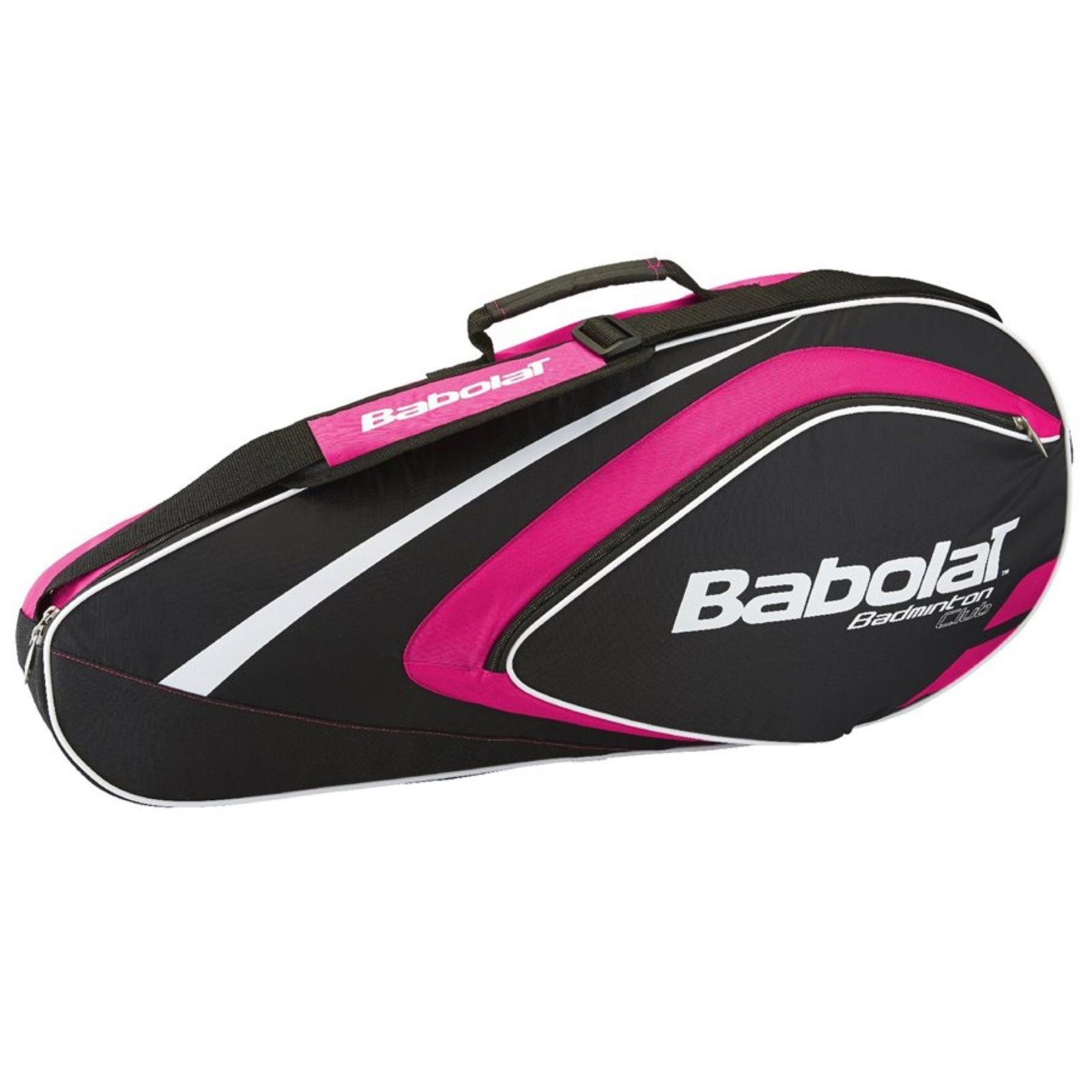 Badmintonová taška BABOLAT Club Line RH X4 růžová