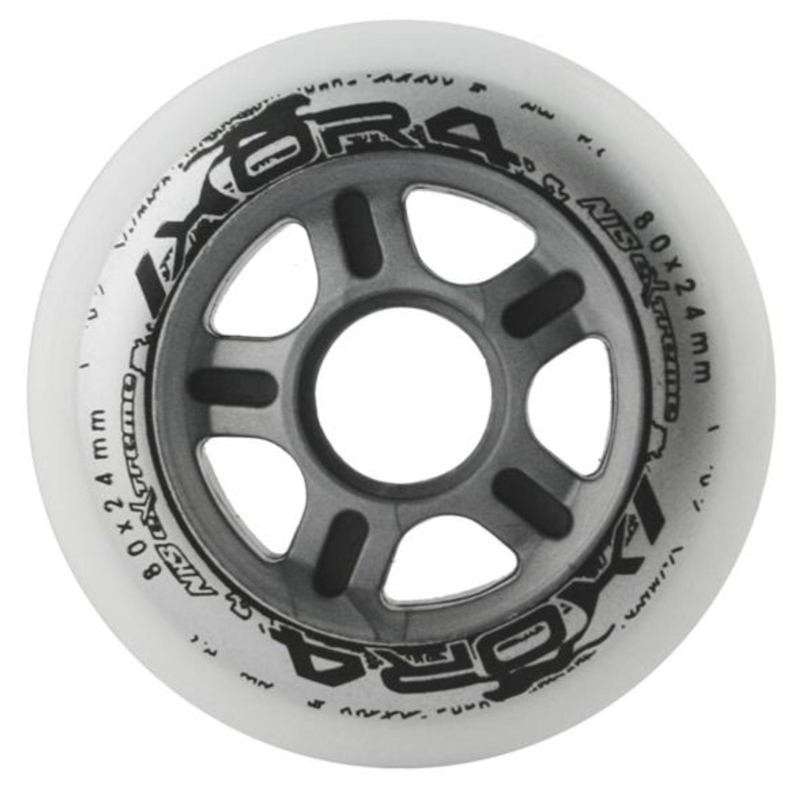 Kolečka NILS Extreme 80 x 24 mm - bílé