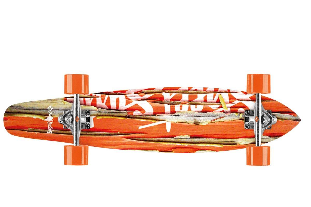 Longboard STREET SURFING Kicktail 36 Damaged - oranžový