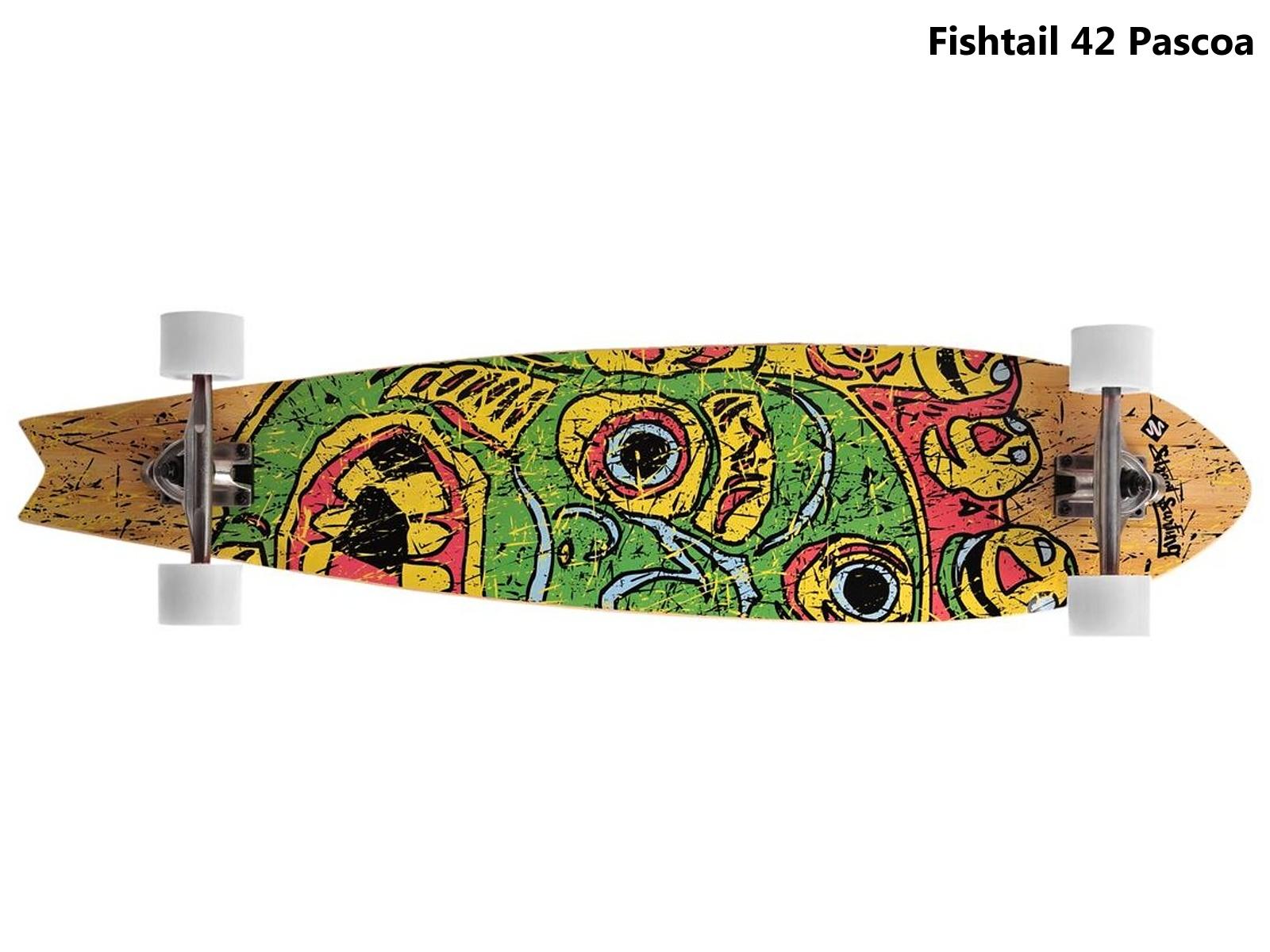 Longboard STREET SURFING Fishtail 42 Pascoa - zelený
