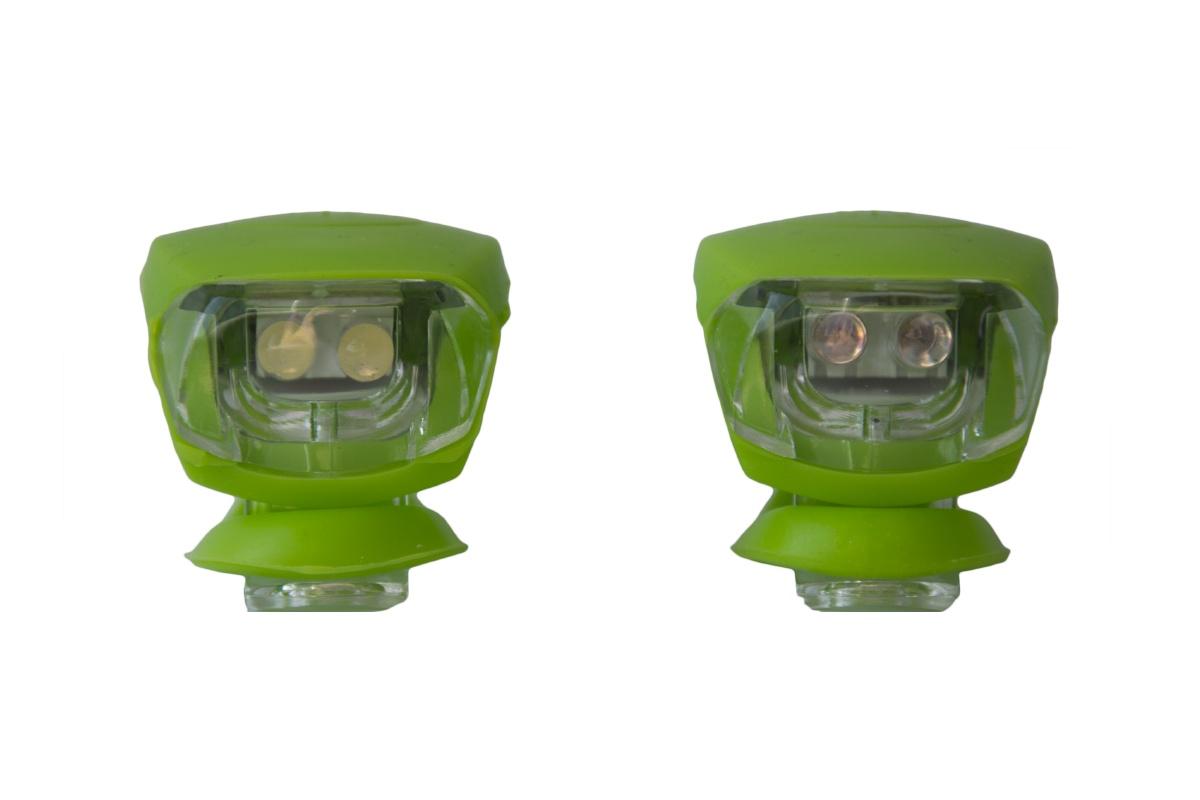 Blikačka silikonová MAXBIKE sada - zelená