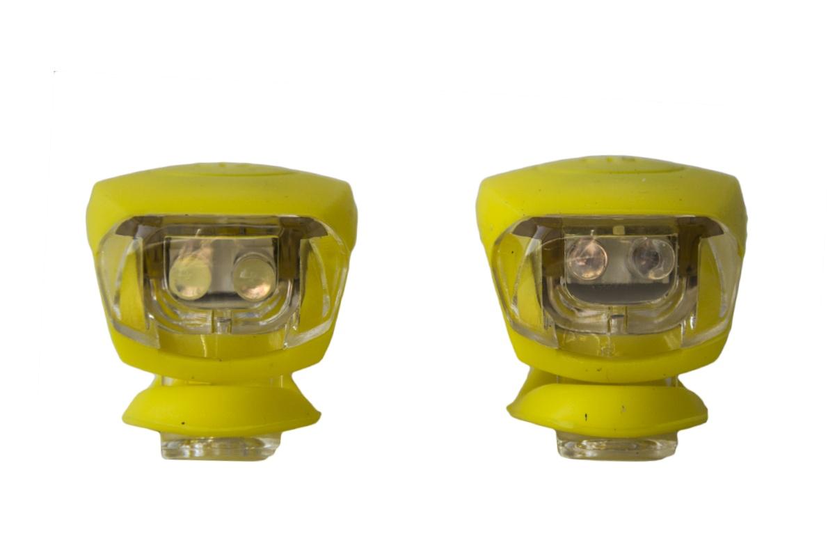 Blikačka silikonová MAXBIKE sada - žlutá
